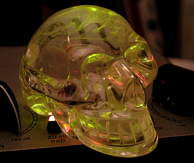 Every studio needs a crystal skull to transmit to the other side...